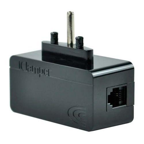 Protetor Eletrico DPS Clamper iClamper Tel + Cabo RJ11 Preto, 009906