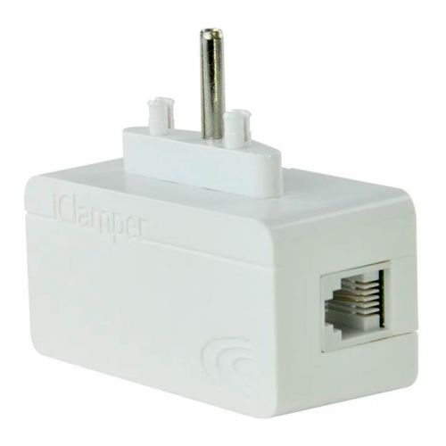 Protetor Eletrico DPS Clamper iClamper Tel + Cabo RJ11 Branco, 009907