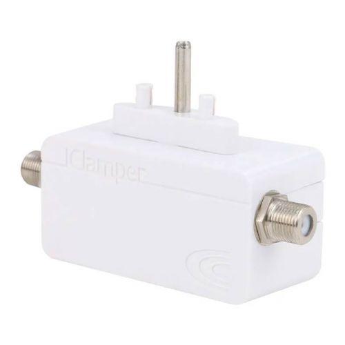 Protetor Eletrico DPS Clamper iClamper Cabo Proteção Coaxial Branco, 009909