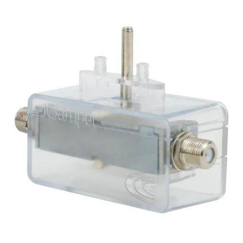 Protetor Eletrico DPS Clamper iClamper Cabo Proteção Coaxial Transparente, 010646