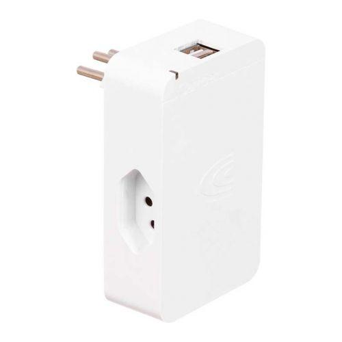 Protetor Elétrico Clamper Energia 3 + 2 USB Branco, 012922