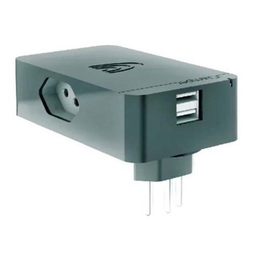 Protetor Elétrico Clamper Energia 3 + 2 USB Preto, 012923