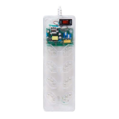 Filtro de linha DPS Clamper Energia 8 +USB Transparente, 013004