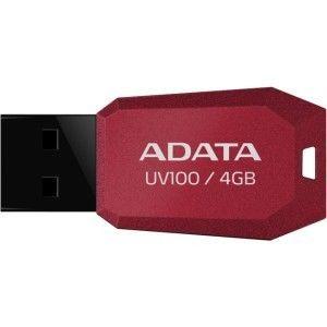 Pendrive ADATA Classic UV100 4GB Vermelho, AUV100-4G-RRD - BOX