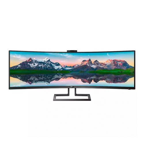 Monitor Philips 49'' SuperWide W-LED Curvo LCD VA HDMI/DisplayPort/USB-C + WebCam, 499P9H/00