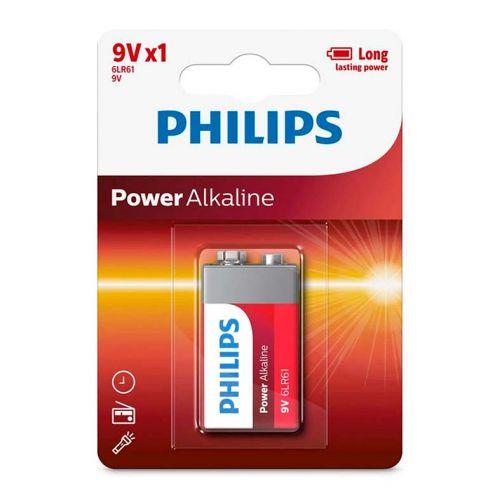 Bateria Alcalina Philips 9v, 6LR61P1B/97
