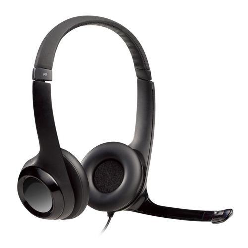 Headset Logitech H390 USB Preto, 981-000014
