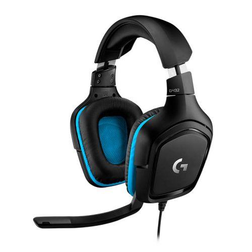 Headset Gamer Logitech G432 7.1 Surround PC/Ps4/Xbox One/Nintendo Switch Preto/Azul, 981-000769