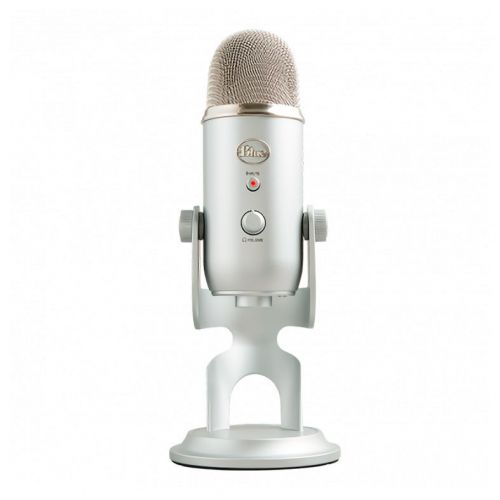 Microfone Condensador Blue Yeti Silver, 988-000103