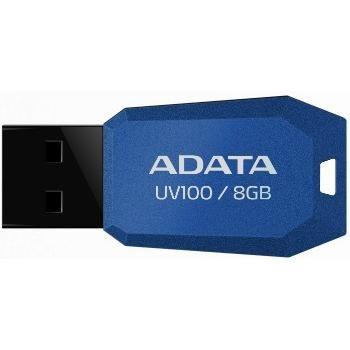 Pendrive ADATA Classic UV100 8GB Azul, AUV100-8G-RBL - BOX