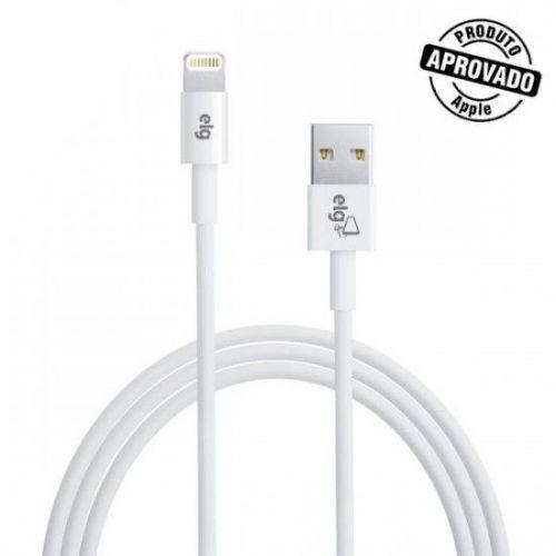 Cabo ELG Lightning Para Apple iPod/ iPhone/ iPad 1 Mts Branco, C810