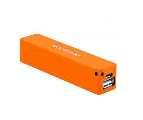 Power Bank Multilaser Smarto Go 2200 Mah Laranja, CB078