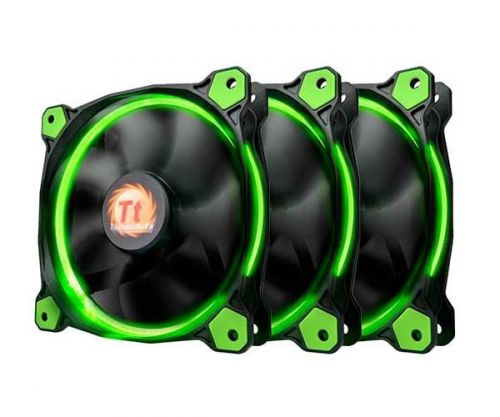 Ventoinha Thermaltake Riing 12 LED Verde (3 Unidades), CL-F055-PL12GR-A