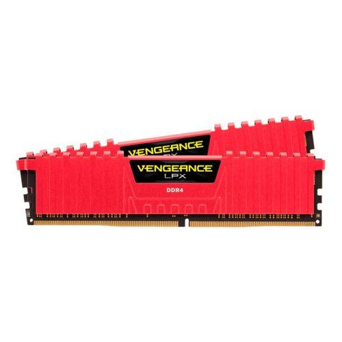 Memoria Corsair Vengeance LPX 16GB (2x8) DDR4 3000MHz C15 Vermelha, CMK16GX4M2B3000C15R
