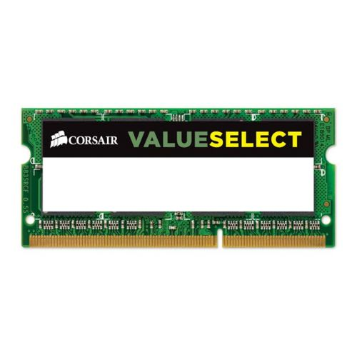 Memoria Notebook Corsair ValueSelect 8GB (1x8) DDR3 1600MHz, CMSO8GX3M1C1600C11