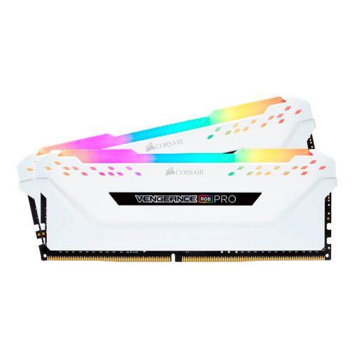 Memoria Corsair Vengeance RGB PRO 16GB (2x8) DDR4 3000MHz C15 Branca, CMW16GX4M2C3000C15W