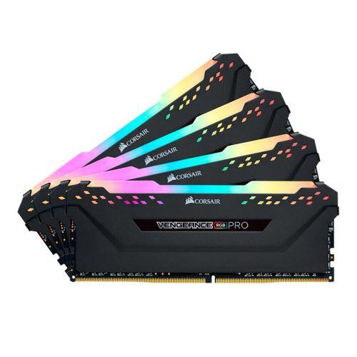 Memoria Corsair Vengeance RGB PRO 32GB (4x8) DDR4 3000MHz C15 Preta, CMW32GX4M4C3000C15