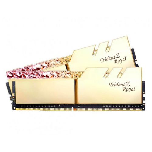 Memoria G.Skill Trident Z Royal 16GB (2x8) DDR4 3000Mhz Dourada, F4-3000C16D-16GTRG