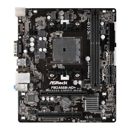 Placa Mae ASRock FM2A68M-HD+ R2.0 DDR3 Socket FM2+ Chipset AMD A68H
