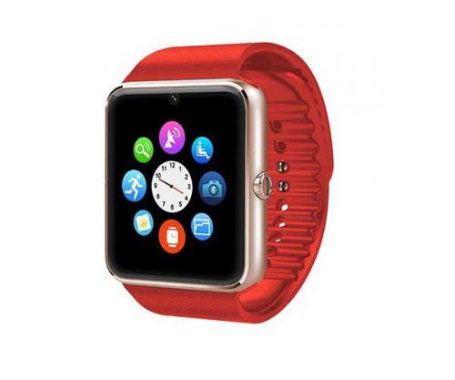 Smart Watch GT08 Dourado/Vermelho Bluetooth Compativel com IOS e Android