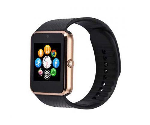 Smart Watch GT08 Dourado/Preto Bluetooth Compativel com IOS e Android