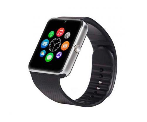 Smart Watch GT08 Prata/Preto Bluetooth Compativel com IOS e Android