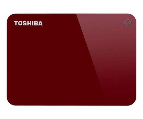 HD Externo Toshiba Canvio Advance 1TB Vermelho USB 3.0, HDTC910XR3AA