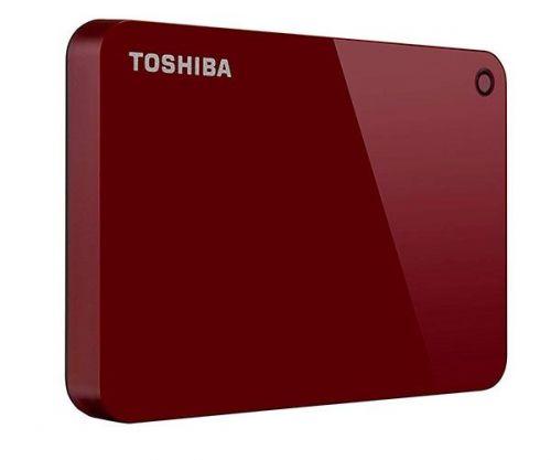 HD Externo Toshiba Canvio Advance 2TB Vermelho USB 3.0, HDTC920XR3AA