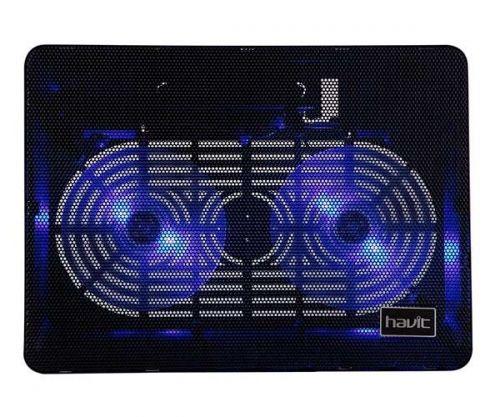Base para Notebook Havit Preta Com LED Azul, HV-F2035