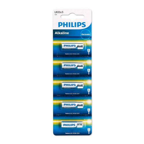 Bateria Alcalina Philips 12v com 5 Unidades, LR23P5B/97