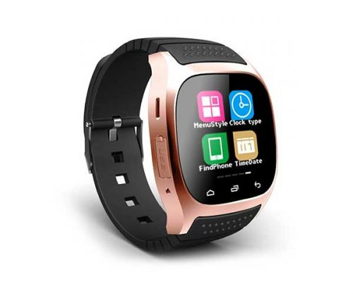 Smart Watch M26S Dourado Bluetooth Compativel com IOS e Android