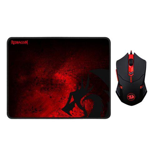Kit Mouse e Mousepad Redragon 330x260x3mm, M601-BA