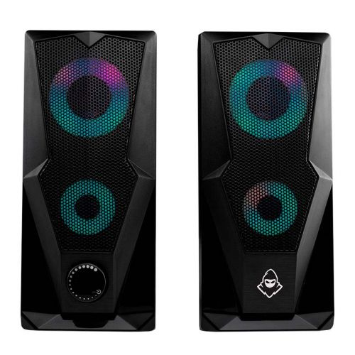Caixa de Som Mancer Arrow RGB Rainbow 2x3W, MCR-ARW-RB01