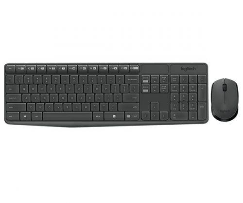 Kit Teclado e Mouse Logitech MK235 Wireless Preto, 920-007903