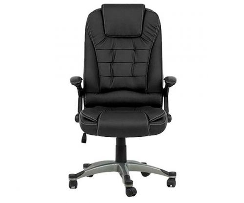 Cadeira De Escritório Mymax Presidente Confort Couro Preto, MOCH-1311-BK
