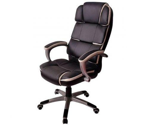 Cadeira De Escritório Mymax Presidente Corporate Couro Preto, MOCH-8055-BK