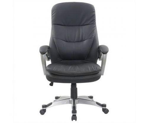 Cadeira De Escritório Mymax Presidente Deluxe Couro Preto, MOCH-TBD/BK