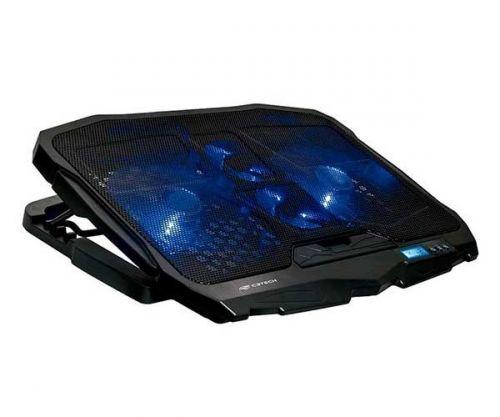 Base para Notebook C3-Tech Preto Com LED Azul, NBC-100BK