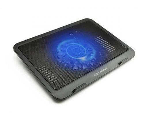Base para Notebook C3-Tech Preto LED Azul, NBC-11BK