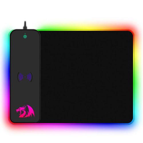 Mousepad Gamer ReDragon Crater RGB 400x300x9mm com Carregador Wireless, P028