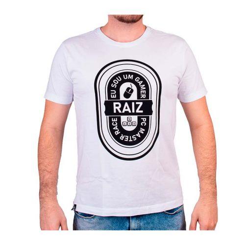 Camiseta Gamer Pichau Gamer Raiz Branca Tamanho M, PG-GR-B-M