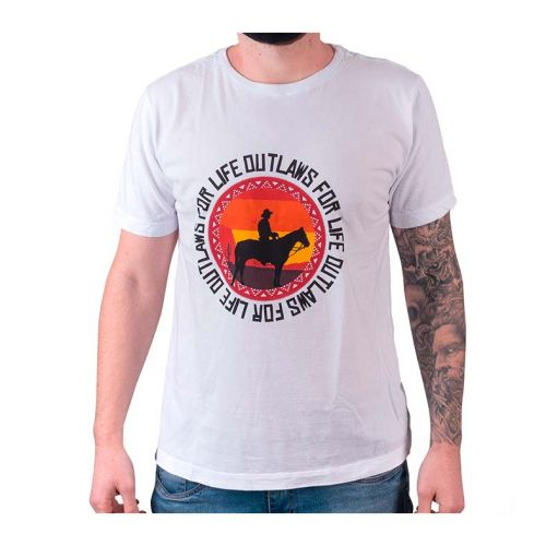 Camiseta Gamer Pichau Outlaws Branca Tamanho G, PG-OFL-B-G