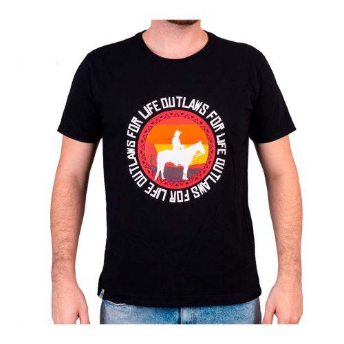 Camiseta Gamer Pichau Outlaws Preta Tamanho G, PG-OFL-P-G