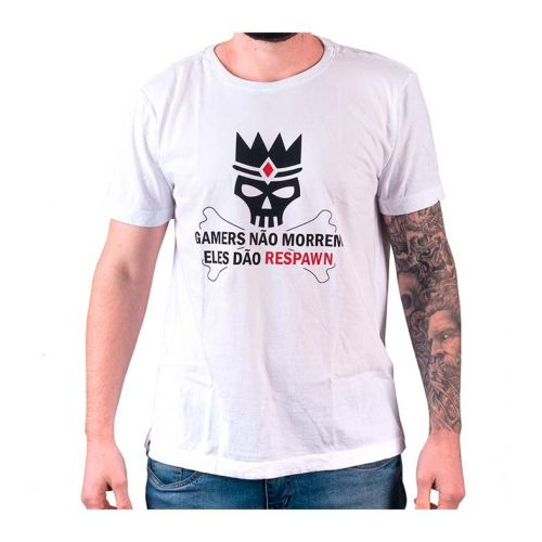 Camiseta Gamer Pichau Respawn Branca Tamanho G, PG-RPW-B-G
