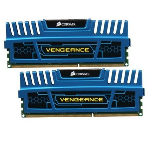 Memoria Corsair Vengeance 8GB (2x4) DDR3 1600MHz C9 Azul, CMZ8GX3M2A1600C9B