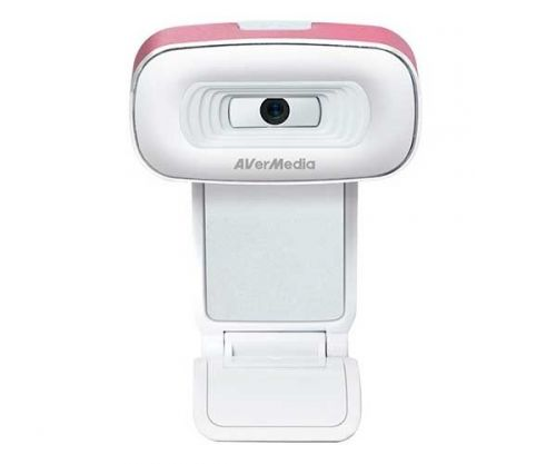 Webcam AVerMedia PW310 1080p HD Branco/Rosa