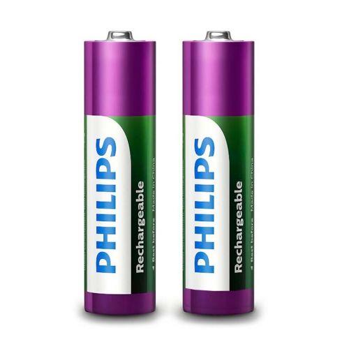 Pilhas Recarregavel Philips AA 1,2v 1000mAh 2 Unidades, R6B2RTU10/97