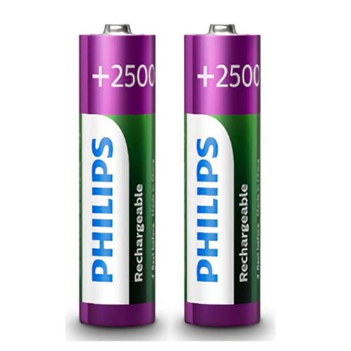 Pilhas Recarregavel Philips AA 1,2v 2500mAh 2 Unidades, R6B2RTU25/97
