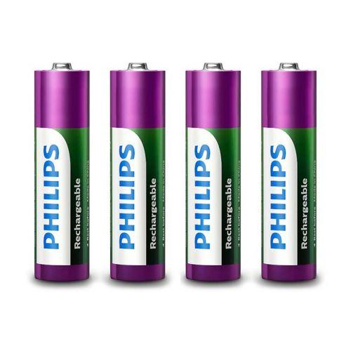 Pilhas Recarregavel Philips AA 1,2v 1000mAh 4 Unidades, R6B4RTU10/97