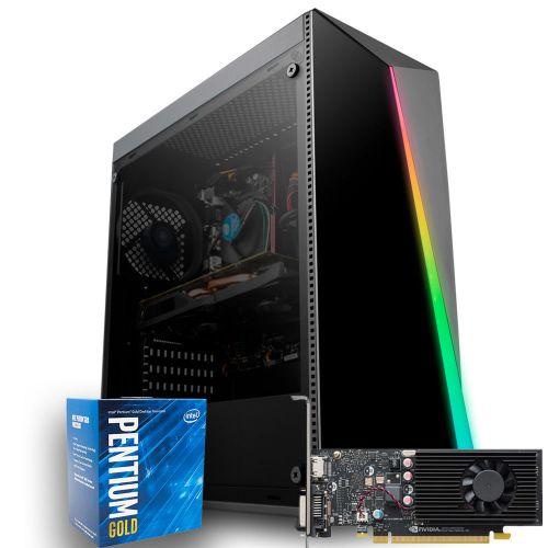 Computador Pichau Moba Gold Lv2, Intel G5400, GeForce GT 1030 2GB GDDR5,  RAM 8GB DDR4,  HD 1TB, 400W, Shard RGB